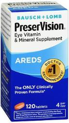 Preservision Eye Vitamin And Mineral Supplement, Areds - 120 Tablets