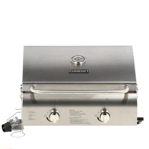 Cuisinart Grill CGG-306 Chefs Style Stainless Tabletop Grill - 2 Burner