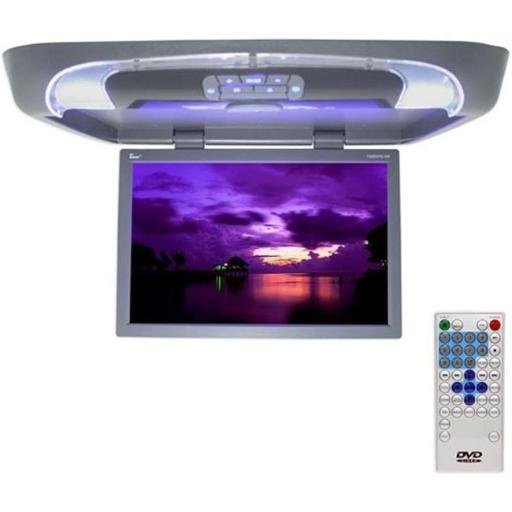 20 in. Gray Lcd Overhead Monitor with Dvd Player And Remote