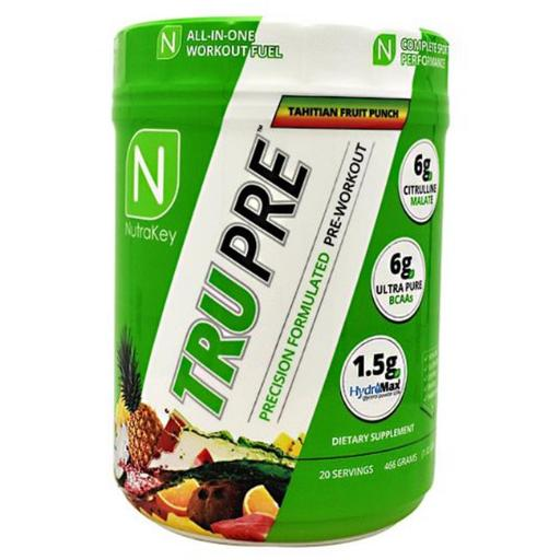 Nutrakey 6150155 TRU Pre Dietary Supplement, Tahitian Fruit Punch - 20 Per Serving