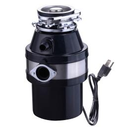 Yescom 1 HP 2600 RPM Continuous Feed Household Plug In Garbage Disposer for Kitchen Waste Disposal Operation Black 26GDP001-370W-06