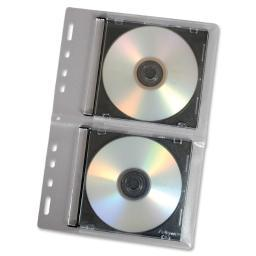 Fellowes, inc. 95304 each fellowes cd/dvd binder sheet holds 2 cds/dvds in jewel cases. loose-leaf vi