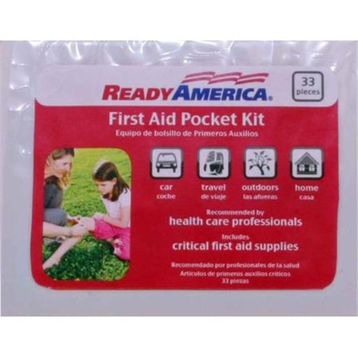 Ready Amer R6E-74001 Pocket First Aid Kit - 33 Pieces