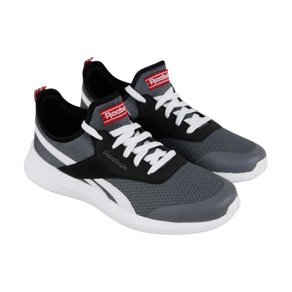 huge selection of 4fe21 3a4eb Reebok Royal Ec Ride 2 Mens Gray Mesh Athletic Lace Up Running Shoes