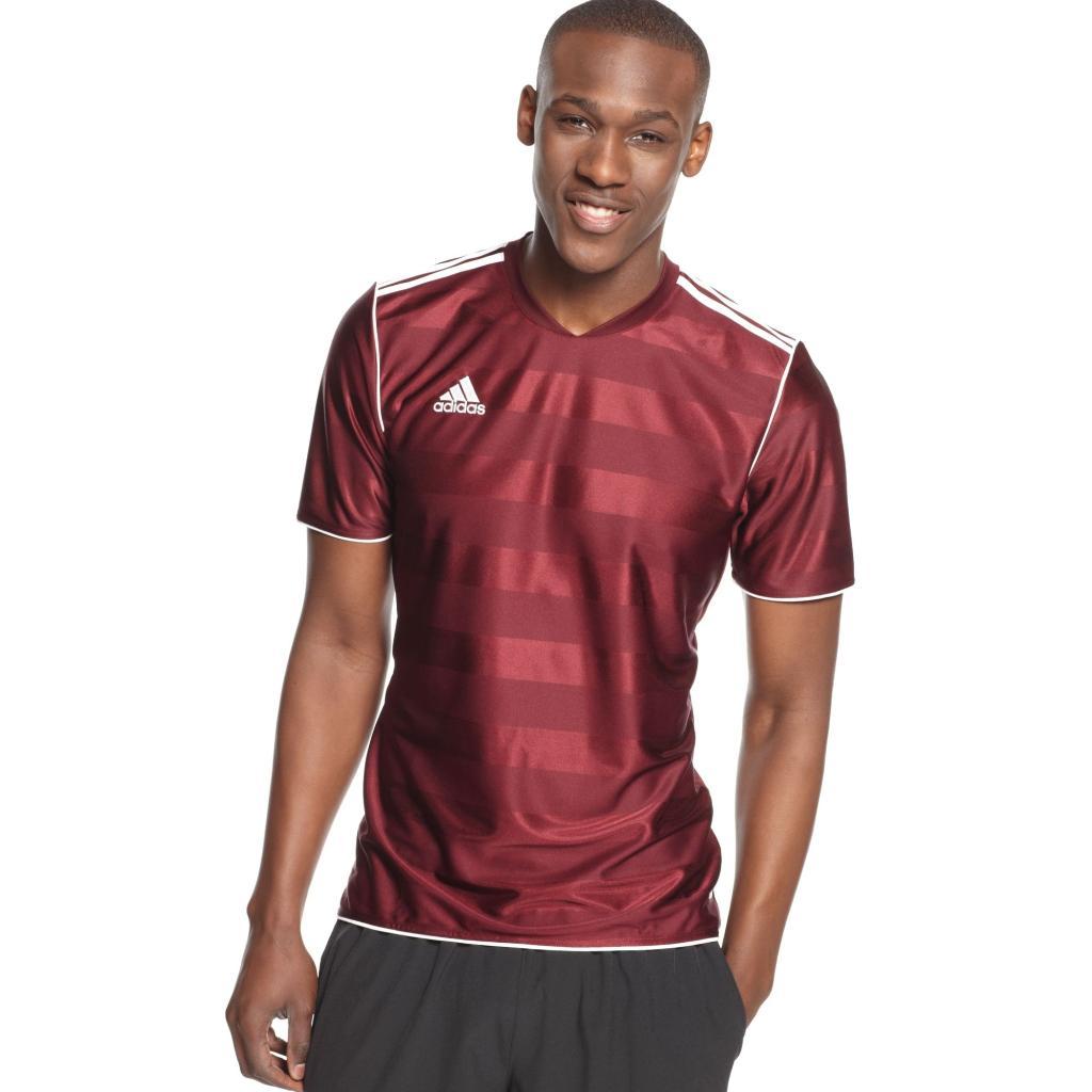 Adidas Men's Tabela 11 Jersey T-Shirt Marron/ White Size Small