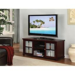 Inroom Furniture Designs E4818 TV Stand Cherry Finish