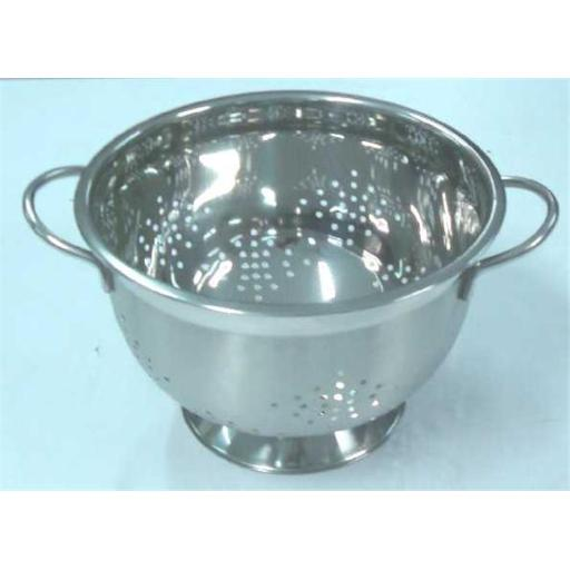 American Trading House T-9162 Gourmet Chef 3 Qt. Professional Stainless Steel Heavy Duty German Colander With Wire Handles