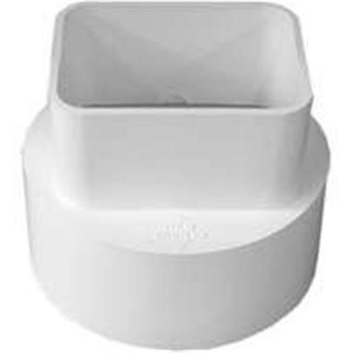 Genova Products 45234 Pvc S & D Downspout Adapter 2 x 3 x 4