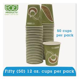 Evolution World 24% Recycled Content Hot Cups Convenience Pack - 12OZ . 50/Pk | 1 Pack of: 50