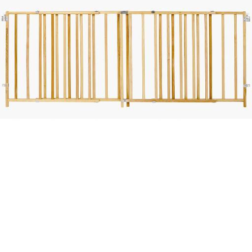 North States 4649 Wood North States Extra-Wide Swing Pet Gate Wood 60 - 103 X 27