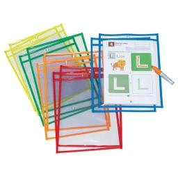 Pacon PACAC9869 Dry Erase Pockets 10 Assorted Color
