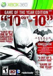 Batman:arkham city game of the year WAR 23884