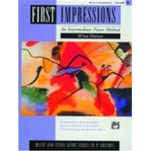 Alfred 00-14799 First Impressions- Music and Study Guides- Volume A - Music Book