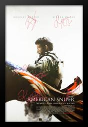 american-sniper-autographed-signed-movie-poster-in-wood-frame-with-coa-1ec5962526faf5bb