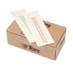 Tops 1277 Time Card for Simplex  Semi-Monthly  3-1/2 x 10-1/2  500 per Box