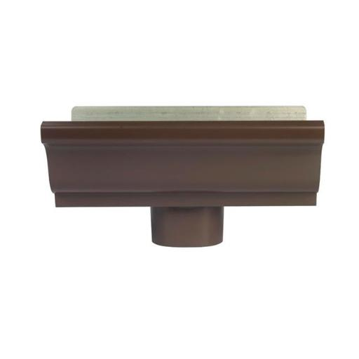 Amerimax Home Product 2501019 5 in. K-Style Aluminum Gutter End & Drop Brown- pack of 12