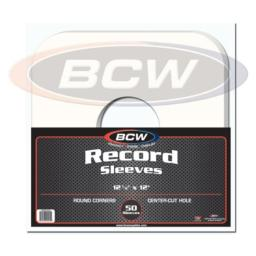 """(50) BCW Brand 12"""" Record White Paper Inner Sleeves"""