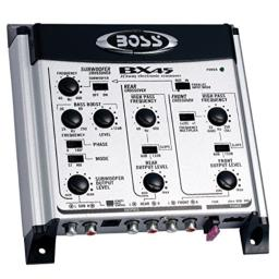 BOSS Audio Systems Bx45 2 3 Way Pre-amp Car Electronic Crossover - Variable High Pass Filter 40 Hz - 8 Khz Selectable Crossover Slopes, Selectable Phase Maximum Input Voltage 4.5 Volts