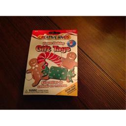 Creative Hands Foam Holiday Gift Tags, Set of Eight, Two of Each Gingerbread Man, Gingerbread Woman, Candy Cane , and Candy