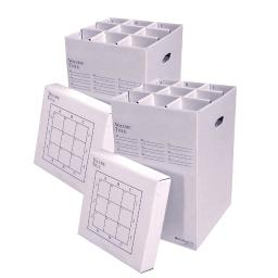 "AOS Office Rolling Storage File Manager 25-9-2PK Stores Rolled Items Up to 24"" in Length"