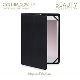 Cynthia Rowley Tablet Magnetic Folio Case for 7-8 Tablets (BlackGold)