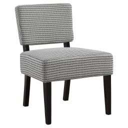 Offex Contemporary Accent Chair with Solid Wood Black Frame - Light Grey