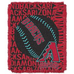 "Officially Licensed MLB Arizona Diamondbacks Double Play Jacquard Throw, 48"" x 60"""