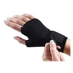 Support Gloves, w/ Wrist Strap, Adjustable, Small, Black, Sold as 1 Pair, 2 Each per Pair