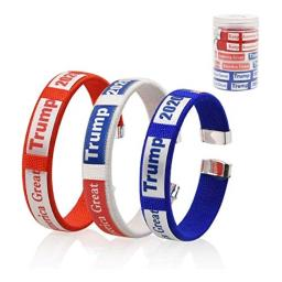 Trump 2020 Keep America Great bracelets donald trump president usa wristband gifts for teens adults unisex (colorful)