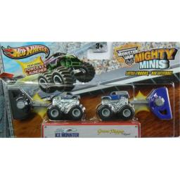 Hot Wheels Monster Jam Mighty Minis Ice Monster and Grave Digger the Legend