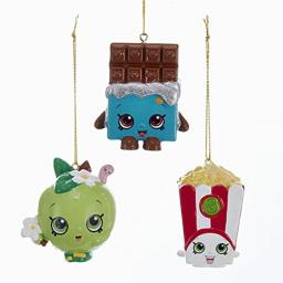 Kurt Adler 2-Inch Shopkins Christmas Ornaments 3 Assorted