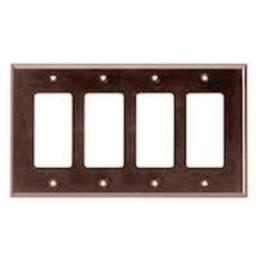 Cooper Wiring Devices PJ264B Decoration Gfci Wall Plate Brown