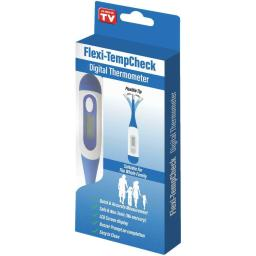 DiThermometer for Baby Kids Adults - Fahrenheit LCD Display Flexible Tip