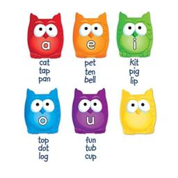 Learning Resources Magnetic Vowel Owls, Whiteboard Accessories, Teacher Aids, 6 Pieces, Ages 5+