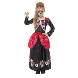 Smiffys Deluxe Day of The Dead Girl Costume, Black, Large