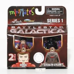 Battlestar Galactica Minimates 2-Pack Doral and Stealth Cylon Exclusive