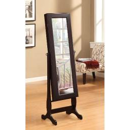 Casual Jewelry Mirror Cheval, Brown