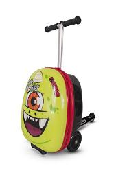 ZincFlyte Kid's Luggage Scooter 18 - Sid the Cyclops, Green