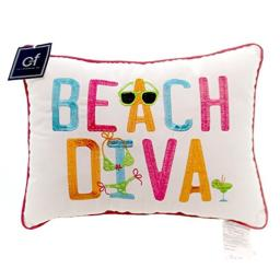 C&F Home 12x16 Embroidery Pillow Beach Diva