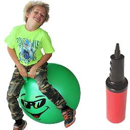 Waliki Hopper Ball For Kids Hippity Hop Ball Jumping Hopping Ball Therapy Ball Green (Ages 79 (2050Cm))