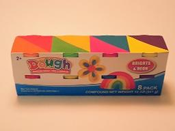 Modeling Dough 8 ct ,Primary and Neon colors by greenbrier