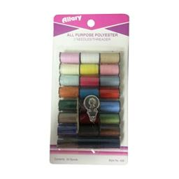 Allary Thread Poly Assortment Color, 24 Count