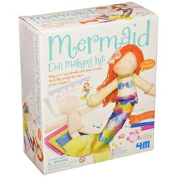4M Mermaid Doll Making Kit - DIY Arts & Crafts Sewing Yarn Gift for Kids, Girls & Boys