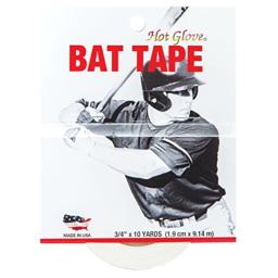 Hot Glove Bat Tape for Baseball and Softball, White