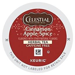 Celestial Seasonings Cinnamon Apple Spice Herbal Tea K-Cup Pod (48 Count)