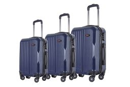 Brio Luggage 3-piece Hardside Spinner Luggage Set - Navy