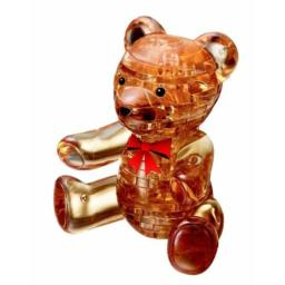 Bepuzzled Original 3D Crystal Puzzle - Teddy Bear - Fun yet challenging brain teaser that will test your skills and imagination, For Ages 12+