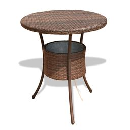 31.5 Outdoor Patio Rattan Cooler Table ""