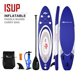 S 3 11 Inflatable Surfboard Sup With Adjustable Paddle Fin Costway Massgenie Com