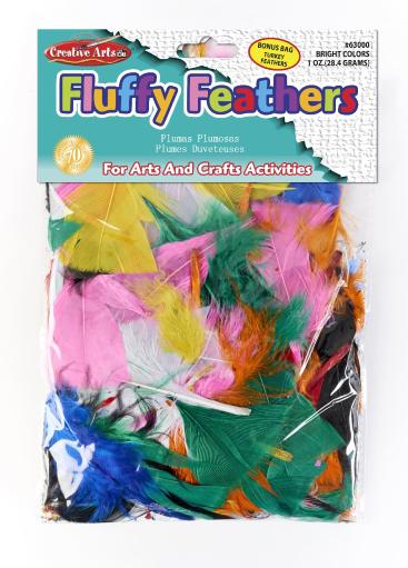 Creative Arts By Charles Leonard, Inc. Turkey Feathers - Assorted Bright Colors(Pack Of 144)